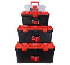 Набір ящиків для інструменту 4в1 305×150×100мм, 410×230×205мм, 507×254×259мм, 572×300×295мм ULTRA (7402082)