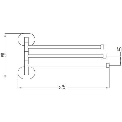 Тримач для рушника Potato P2913 потрійний поворотний - 2