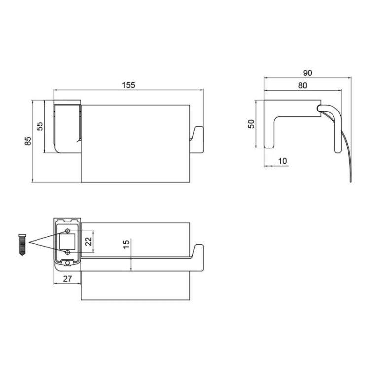 Тримач для туалетного паперу Lidz (CRM) 123.03.01 - 2