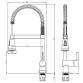 Змішувач OMODEO Ø40 для кухні вилив гнучкий з пружиною на гайці CORSO (EC-4B626C) - 4