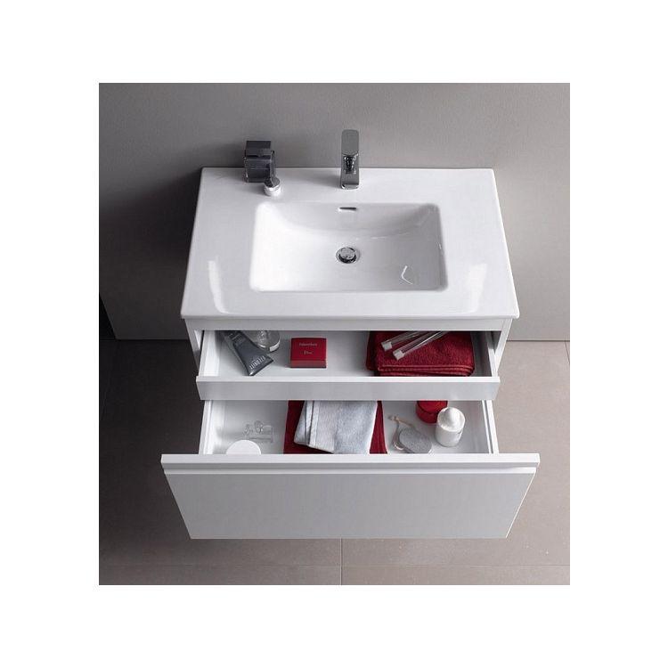 PRO S комплект тумба+умывальник 100*50см (8179670001041+4835310964641), цвет белый глянец - 3