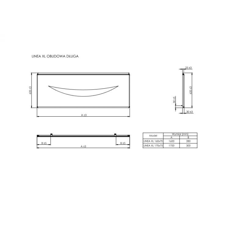 LINEA панель 1700мм, фронтальна - 2