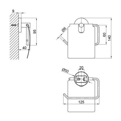Тримач для туалетного паперу SW 22-105CRM - 2