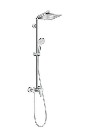 Crometta E 240 1jet Showerpipe Душова система з одноважільного змішувачем, хром - 1