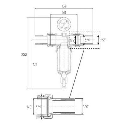 """Самопромывной фильтр Icma 1/2"""" №751 - 2"""