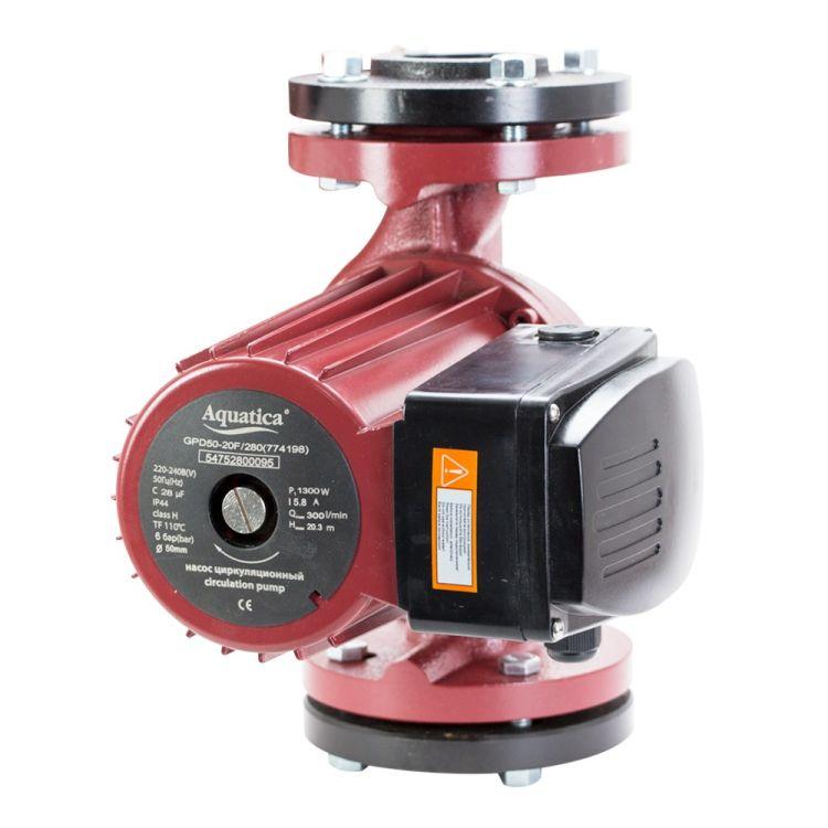 Насос циркуляційний фланцевий 1.3 кВт Hmax 12.3 м Qmax 550л/хв DN65 300мм + відповідь фланець AQUATICA (774169) - 2
