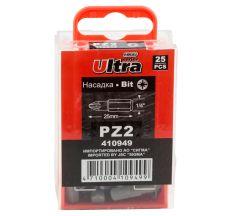 "Набор бит PZ2x25мм 1/4"" 25шт S2 ULTRA (4010502)"