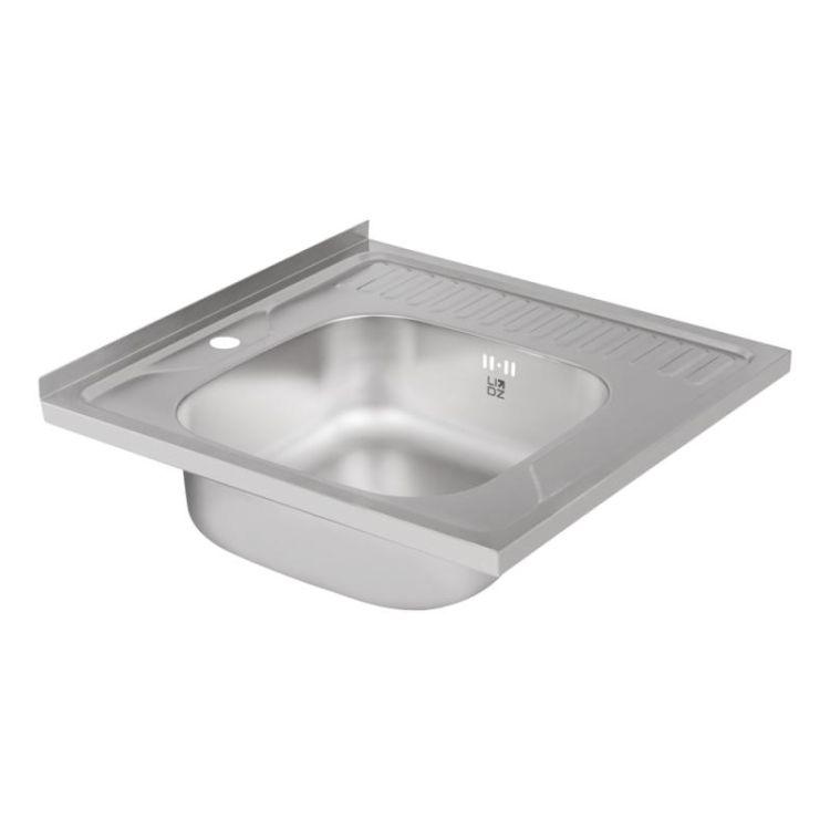 Кухонна мийка Lidz 6060-L Satin 0,8 мм (LIDZ6060LRSAT8) - 4