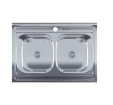 Кухонна мийка подвійна Imperial 5080 Decor (IMP5080DECD)