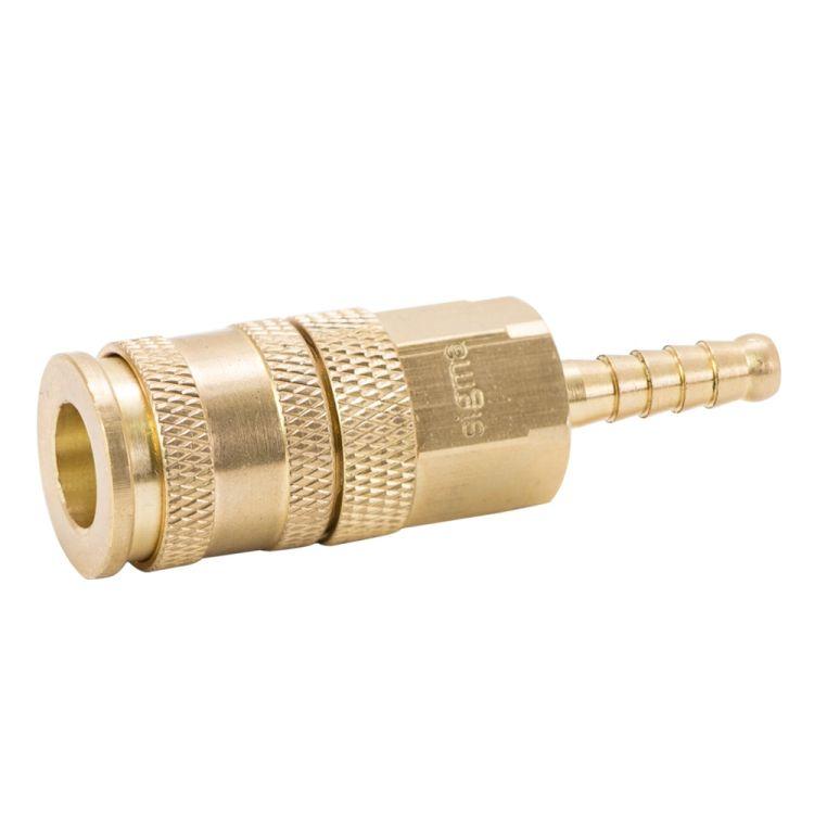 Соединение быстросъемное усиленное с фиксатором для шланга 6мм (латунь) Sigma (7021671) - 3
