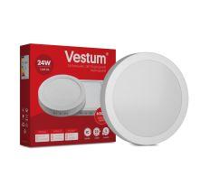 Світильник LED накладний круглий Vestum 24W 6000K 220V
