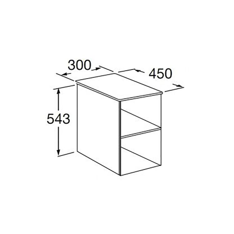 VICTORIA BASIC меблевий модуль 30см, без дверцят, білий глянець - 2