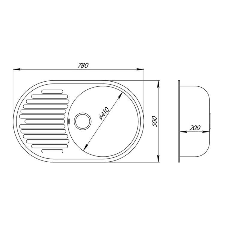 Кухонна мийка GF BLA-03 (GFBLA03780500200) - 2