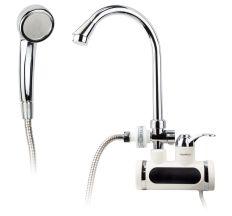 Кран-водонагрівач проточний JZ 3.0 кВт 0,4-5бар для ванни гусак вухо настінний AQUATICA (JZ-7C141W)