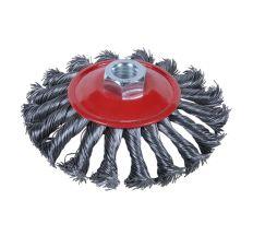Щітка дротяна конусоподібна Ø125мм М14×2мм (сталевий витий) Sigma (9024121)