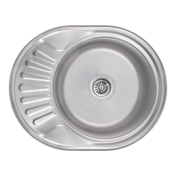 Кухонна мийка Lidz 5745 Satin 0,8 мм (LIDZ5745SAT08) - 1