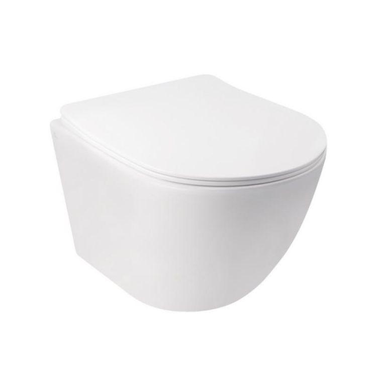 Комплект Qtap інсталяція Nest QTNESTM425M08CRM + унітаз з сидінням Jay QT07335176W + набір для гігієнічного душу зі змішувачем Form QTFORMCRM001AB - 3