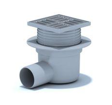 ТА5602 Трап гориз. регулюємо випуск 50 мм з нерж. ґратами 10х10 см