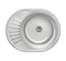 Кухонна мийка Lidz 5745 dekor 0,8 мм (LIDZ5745MDEC)
