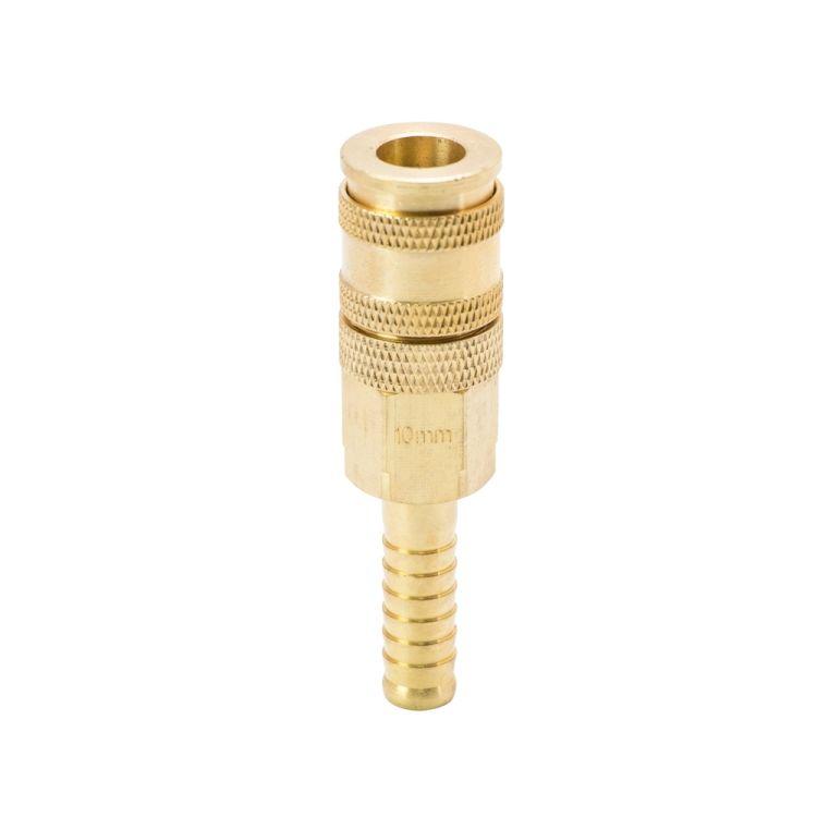 Соединение быстросъемное усиленное с фиксатором для шланга 10мм (латунь) Sigma (7021691) - 2