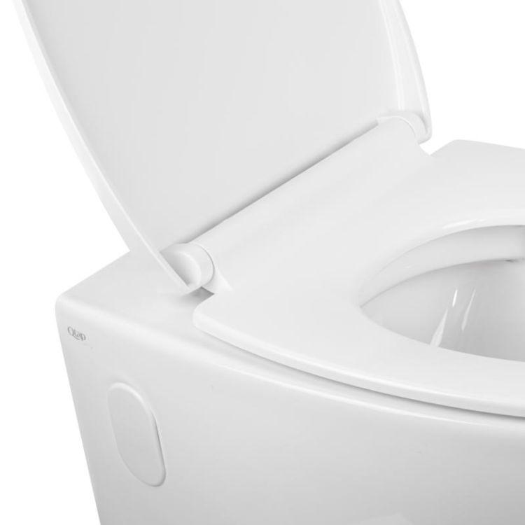 Унітаз підвісний Qtap Leo безободковый з сидінням Slim Soft-close QT11331002ERW - 4