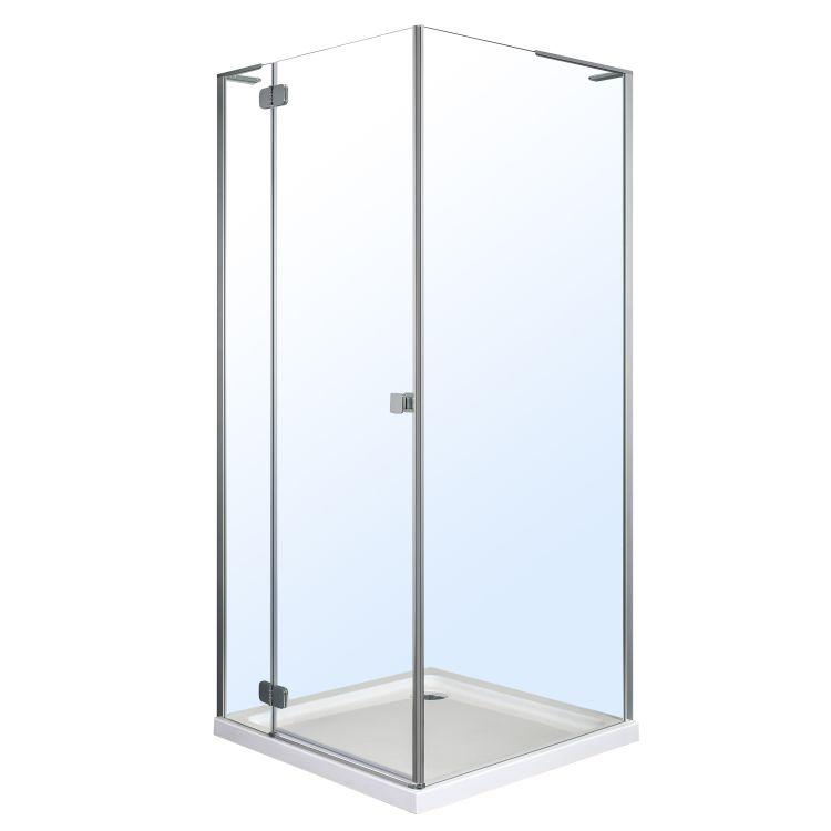 BENITA душова кабіна квадратна 900*900*2000мм, піддон (PUF) 5 см (з сифоном),ліва, орні, профіль хром, прозоре скло - 1