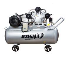 Компресор ремінною трициліндровий 380В 5.5 кВт 865л/хв 10бар 200л Sigma (7044761)