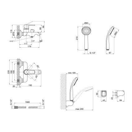 Змішувач для ванни Q-tap Fresh 006 NEW WCR - 2