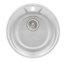 Кухонна мийка Qtap D490 dekor 0,8 мм (QTD490MICDEC08)