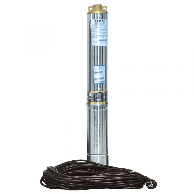 Насос центробежный скважинный 1.5кВт H 116(88)м Q 100(60)л/мин Ø102мм (кабель 50м) AQUATICA (DONGYIN) (777476) - 1