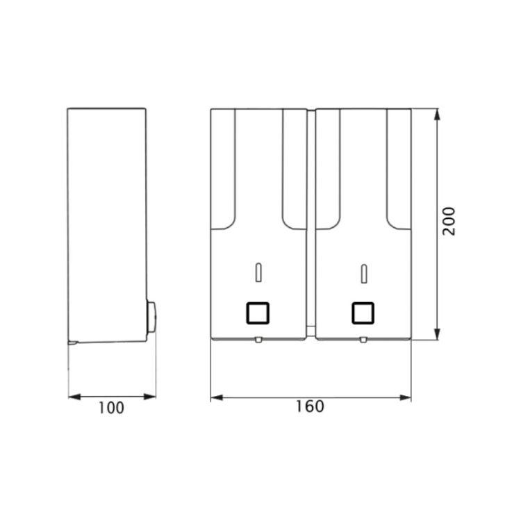 Дозатор для рідкого мила та крему Potato P404 - 2