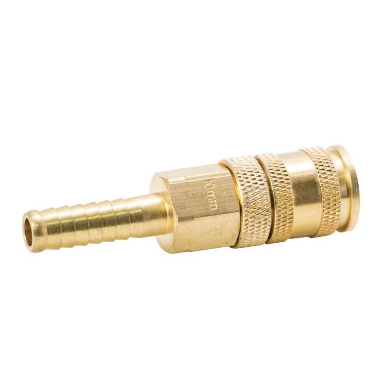 Соединение быстросъемное усиленное с фиксатором для шланга 10мм (латунь) Sigma (7021691) - 4