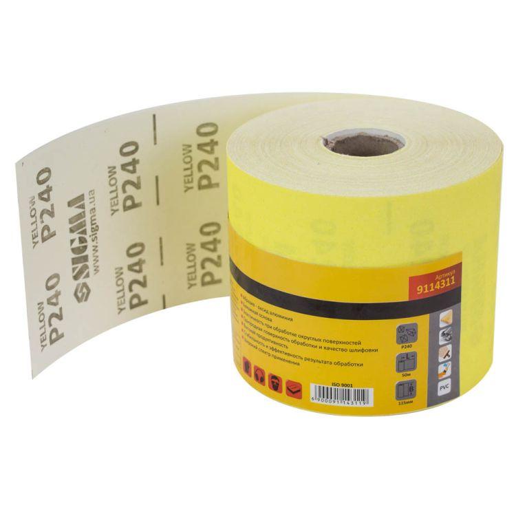 Шлифовальная бумага рулон 115ммх50м P240 Sigma (9114311) - 1