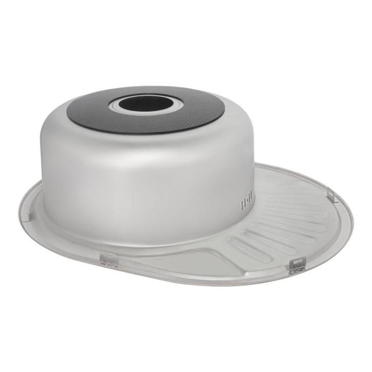 Кухонна мийка Lidz 5745 Satin 0,8 мм (LIDZ5745SAT08) - 5