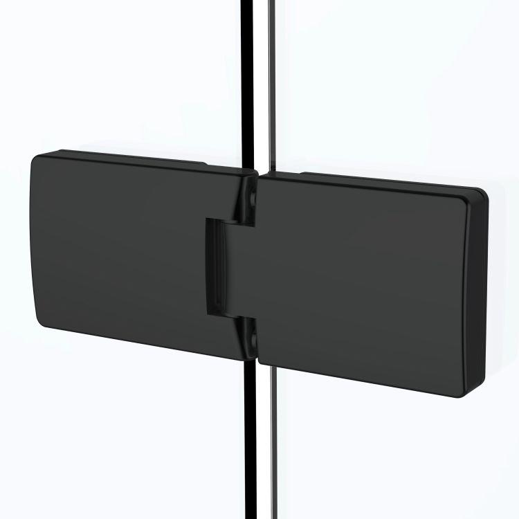 De la Noche Душова кабіна кутова 900*900*2000мм (скла+двері), права,орні, скло 8мм з Nano покриттям - 4