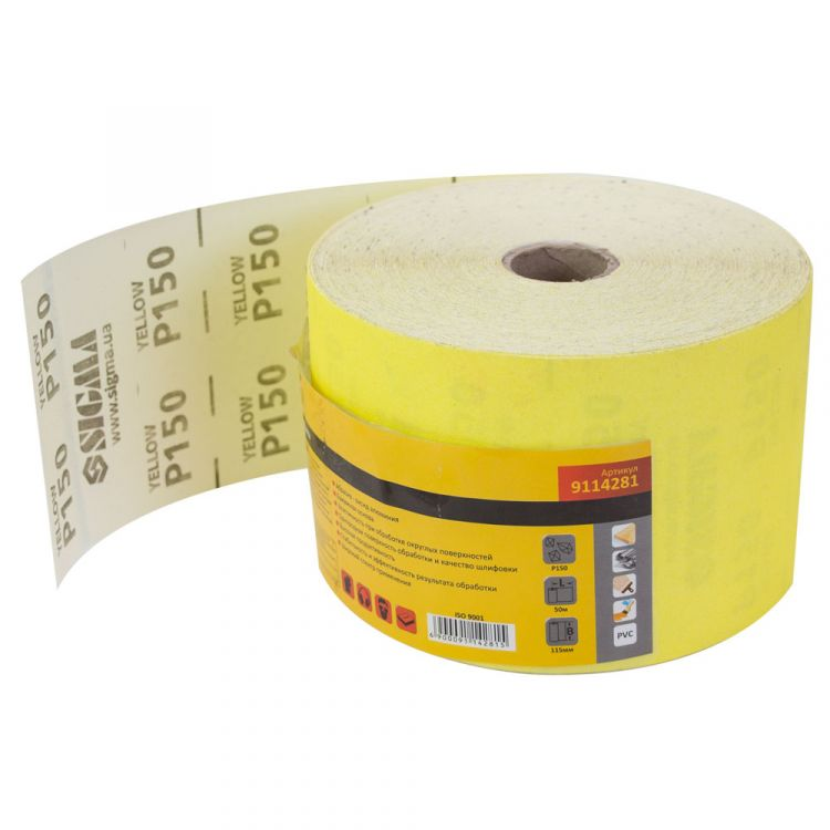 Шлифовальная бумага рулон 115ммх50м P150 Sigma (9114281) - 1