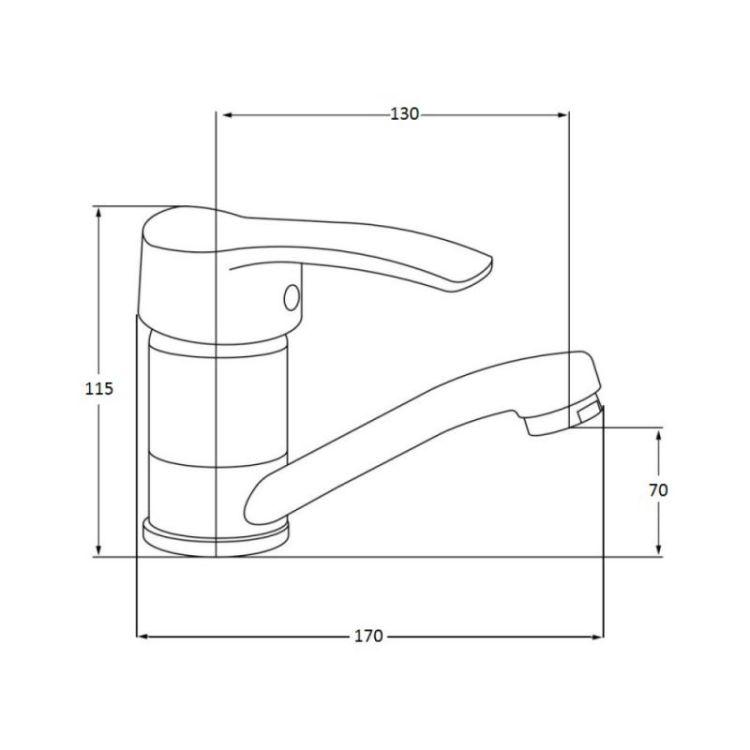 Змішувач для кухонного миття Lidz (CRM)-20 38 002 01 - 2