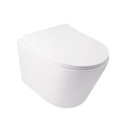 Комплект Qtap інсталяція Nest QTNESTM425M11CRM + унітаз з сидінням Swan QT16335178W + набір для гігієнічного душу зі змішувачем Form QTFORMCRM001AB - 3