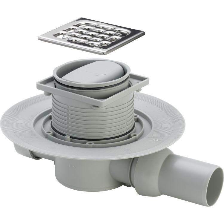 Трап Advantix для ванної, сухий затвор, горизонтальний D50 (583217) - 1