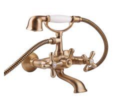 Смеситель для ванны с душ. компл. пл.гусь Fashion 1023#OLD Bianch VSCOLF VOTi