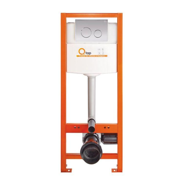 Комплект Qtap інсталяція Nest QTNESTM425M11CRM + унітаз з сидінням Swan QT16335178W + набір для гігієнічного душу зі змішувачем Form QTFORMCRM001AB - 7